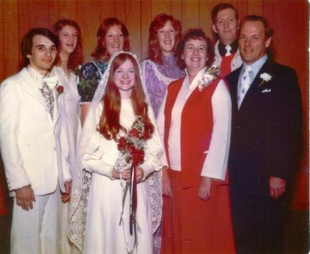 Simons wedding with Davis family